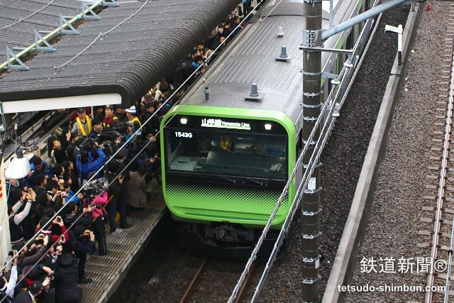 山手線の新型車両「E235系」が営業運転再開