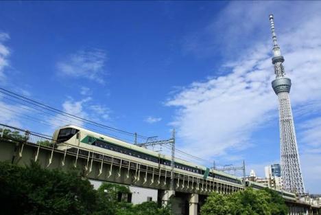 新型特急車両500系「Revaty(リバティ)」走行イメージ(東武鉄道ニュースリリースより)