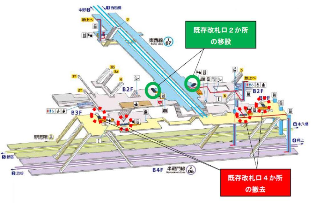 構内図|九段下|駅の情報|ジョルダン