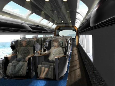 新型観光特急「E261系」プレミアムグリーン車イメージ(JR東日本ニュースリリースより)