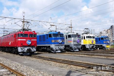 「北斗星」「カシオペア」機関車の並び