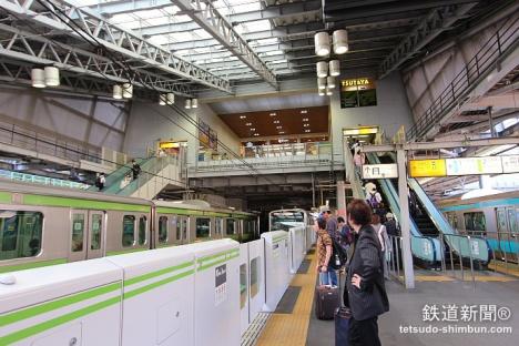 田端駅のホーム
