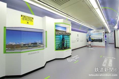 エヴァ新幹線1号車「展示・体験ルーム」