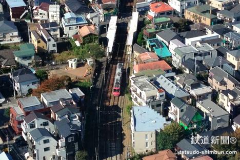 キャロットタワー26階からは世田谷線