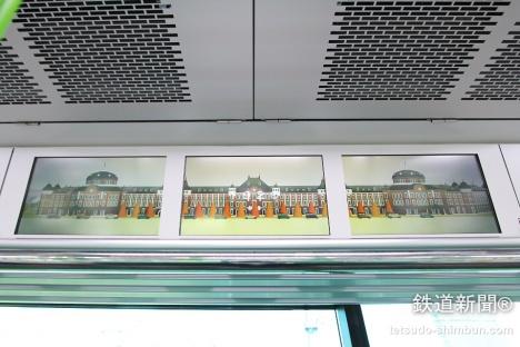 山手線 新型車両 E235系 デジタルサイネージ