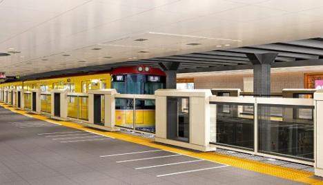上野駅 透明 ホームドア設置イメージ