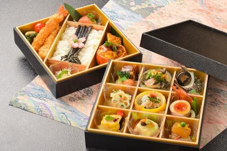 1月の「伊豆のまんま号」稲取銀水荘料理長監修による食事イメージ(昼御膳)