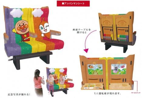 「予讃線8000系アンパンマン列車」アンパンマンシートのイメージ