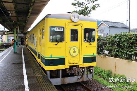 大原駅から、いすみ鉄道の普通列車に乗車