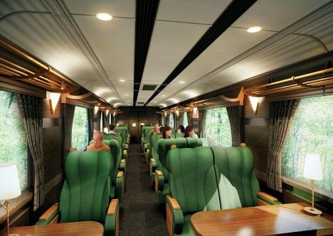 近鉄南大阪線・吉野線の観光特急列車「青の交響曲」座席スペース(1・3号車)イメージ