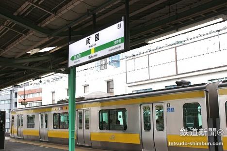 両国駅とJR総武線