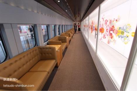 現美新幹線15号車の車内