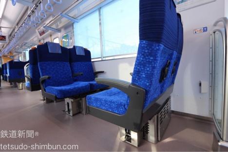 40000系クロスシート 座席回転