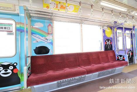 熊本電鉄 銀座線 車内