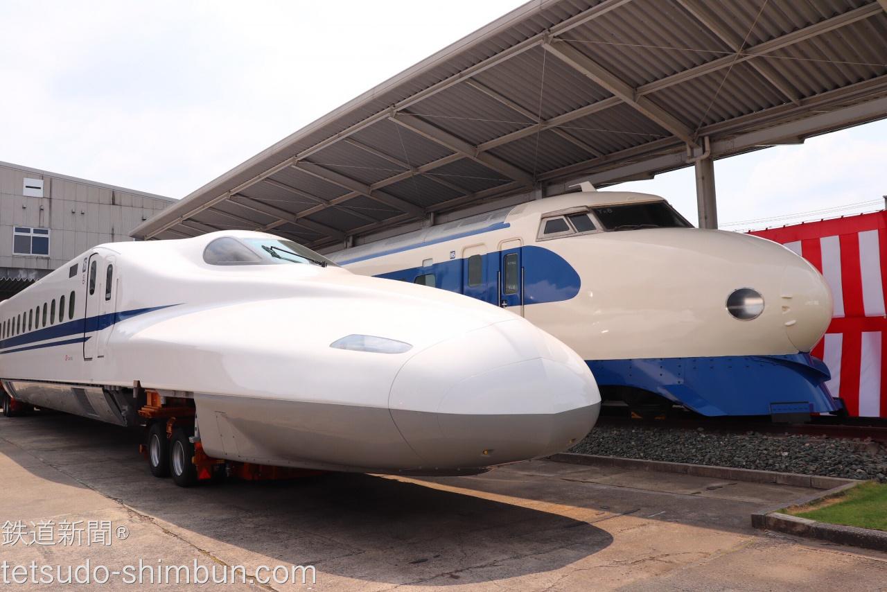 N700Aと0系並ぶ!日本車輌製造4,000両目となる新幹線車両が出荷 | 話題 ...