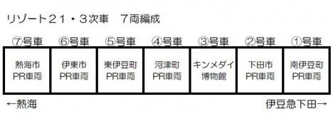 伊豆急行リゾート21「キンメ電車」編成図