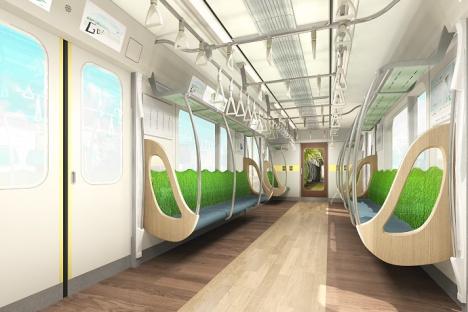 東急田園都市線の新型車両「2020系」車内イメージ