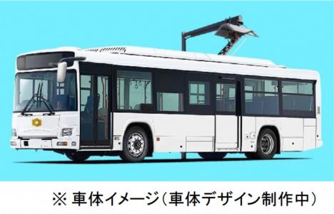 電気バスの車体イメージ(関西電力ニュースリリースより)