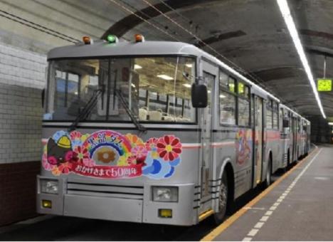 現在のトロリーバス(関西電力ニュースリリースより)
