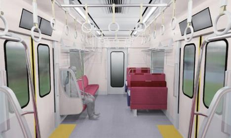 京急新1000形17次車 車内イメージ(京急ニュースリリースより)