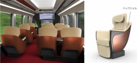 新型名阪特急ハイグレード車両の車内イメージ(近鉄ニュースリリースより)