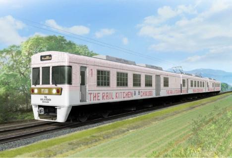 「THE RAIL KITCHEN CHIKUGO」外装デザイン(西日本鉄道ニュースリリースより)