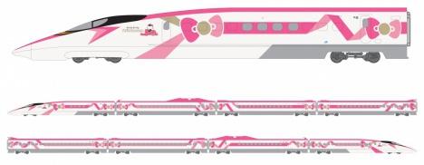 「ハローキティ新幹線」外観イメージ