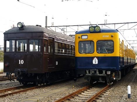 ロマンスカーミュージアム 展示車両 モハ1(左)