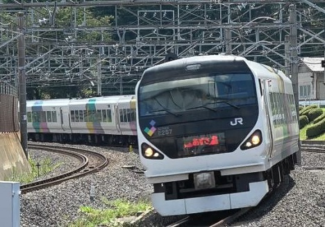E257系(JR東日本ニュースリリースより)