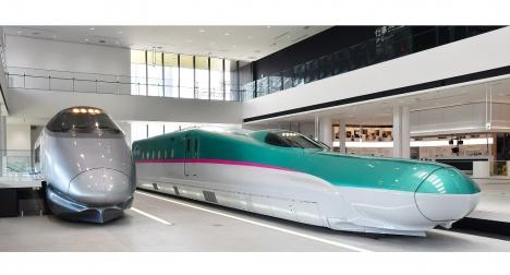 400系新幹線電車・E5系新幹線電車(モックアップ)
