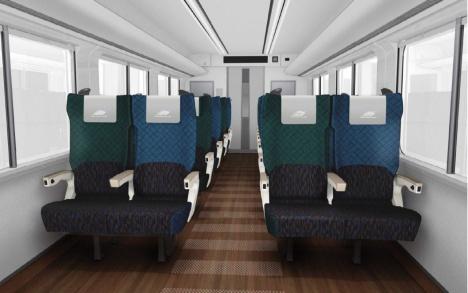 JR四国 特急形気動車「2700系」室内パース