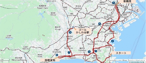 車両製造会社から相鉄線への輸送経路図(イメージ)