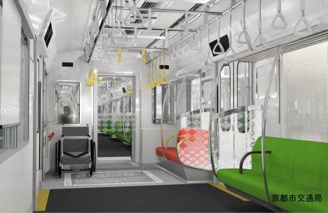 京都市営地下鉄烏丸線新型車両 内装イメージ(京都市交通局ニュースリリースより)