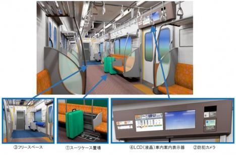 京成電鉄3100形車内イメージ(京成電鉄ニュースリリースより)