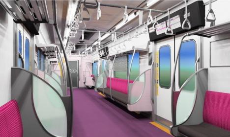 新京成電鉄80000形車内イメージ(新京成電鉄ニュースリリースより)