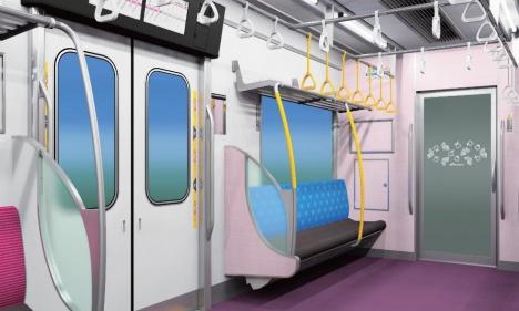 新京成電鉄80000形優先席イメージ(新京成電鉄ニュースリリースより)