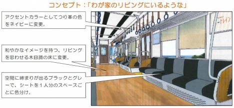 南海マイトレイン 車内イメージ図(南海電鉄ニュースリリースより)