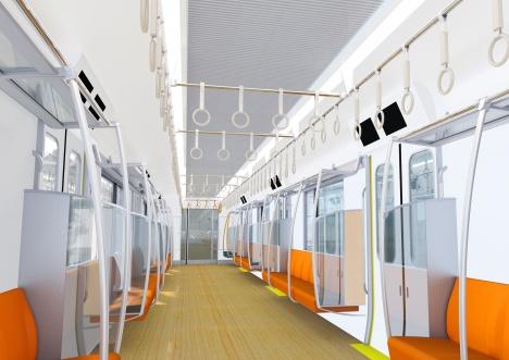 小田急電鉄の新型通勤車両「5000形」車内イメージ