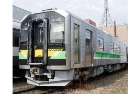 H100形「DECMO」量産車外観(JR北海道ニュースリリースより)