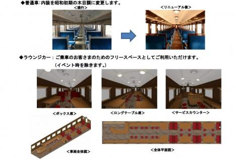 旧型客車 内装リニューアルイメージ(JR東日本ニュースリリースより)