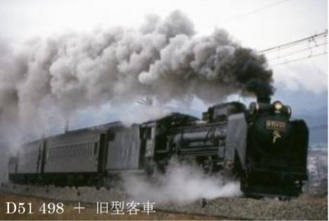 D51 498 + 旧型客車(JR東日本ニュースリリースより)