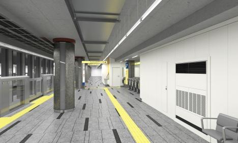 虎ノ門ヒルズ駅開業時北千住方面行きホームイメージ